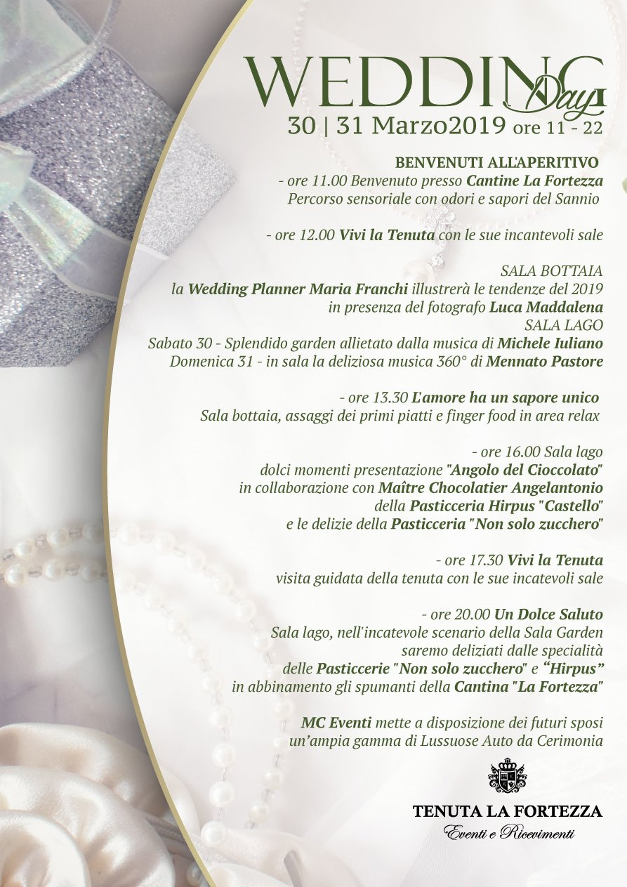 Wedding Day Benevento - Tenuta La Fortezza